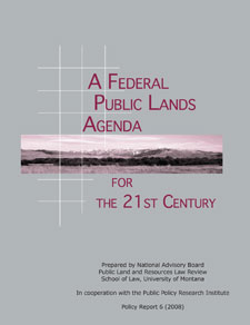 Cover of A Federal Public Lands Agenda for the 21st Century (2008)