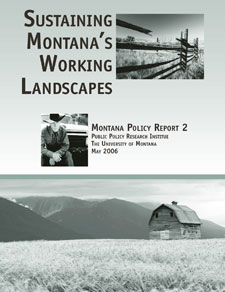 Cover of Sustaining Montana's Working Landscapes (2006)