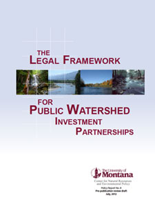 Cover of The Legal Framework for Public Watershed Investment Partnerships (July 2012)