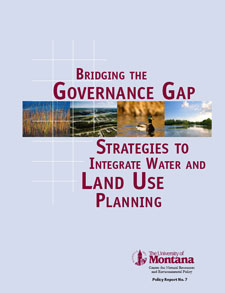 Cover of Building the Governance Gap, Strategies to Integrate Water and Land Use Planning
