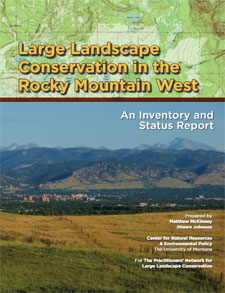 Report cover for Large Landscape Conservation in the Rocky Mountain West, An Inventory and Status Report