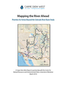 Report cover for Mapping the River Ahead, Priorities for Action Beyond the Colorado River Study