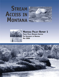Report cover for Stream Access in Montana