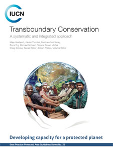 Report cover for Transboundary Conservation, A Systematic and Integrated Approach